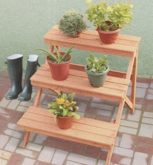 3 Tier Outdoor Flower Pot Shelf