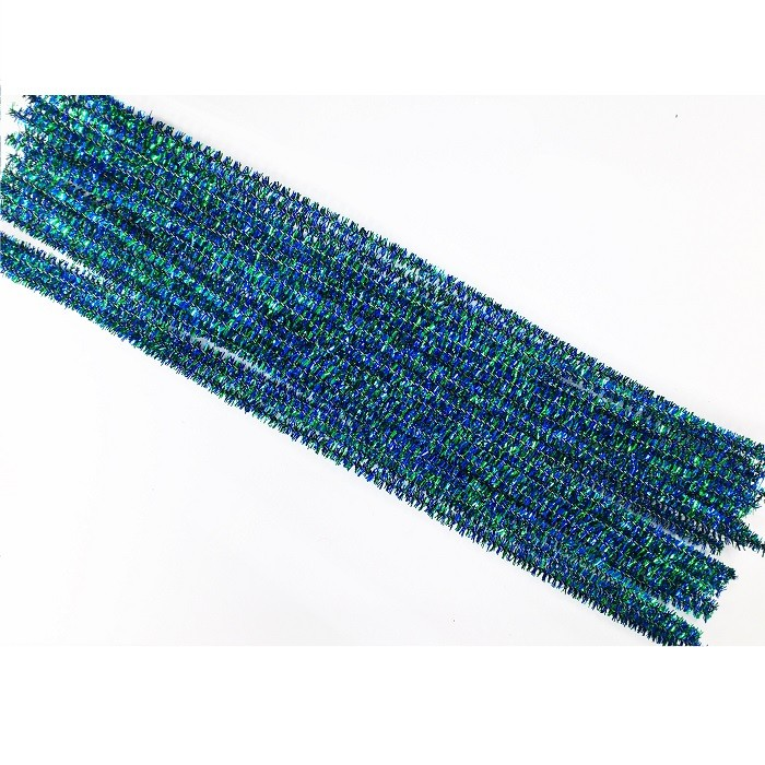 Twisted 2 colors Metallic Craft Chenille Stem, pipe cleaner
